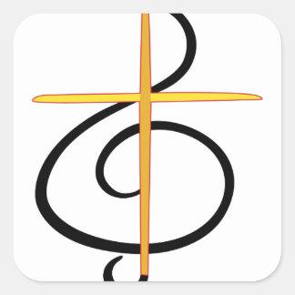 Church Musician Square Sticker