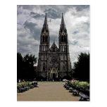 Church, New Town, Prague Postcard
