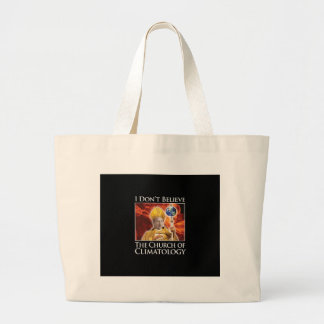 church_of_climatology_blk_stkr tote bag