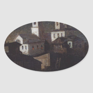 Church of Elijah the ordinary in Moscow by Aleksey Oval Sticker