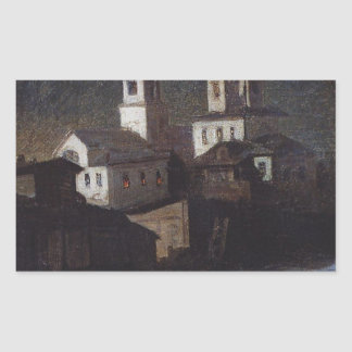 Church of Elijah the ordinary in Moscow by Aleksey Rectangular Sticker