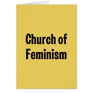Church of Feminism Card
