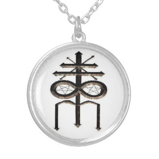 church Of Leviathan Sigil Round Pendant Necklace