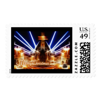 Church of Light Abstract Merry Christmas Stamp
