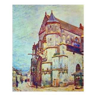 Church of Moret, After the Rain by Alfred Sisley Posters