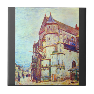 Church of Moret, After the Rain by Alfred Sisley Ceramic Tiles