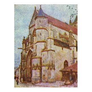 Church of Moret by Alfred Sisley Postcard