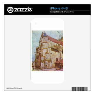 Church of Moret by Alfred Sisley Skins For iPhone 4S