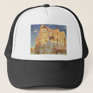 Church of Moret by Alfred Sisley Trucker Hat