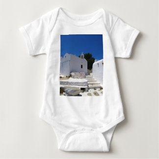 Church of Mykonos Island Greece Baby Bodysuit
