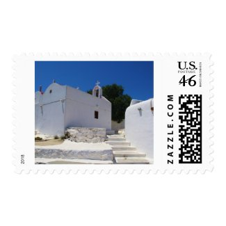 Church of Mykonos Island Greece stamp