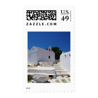 Church of Mykonos Island Greece Stamps