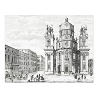 Church of Notre Dame, Salzburg, Austria, from 'Ent Postcard