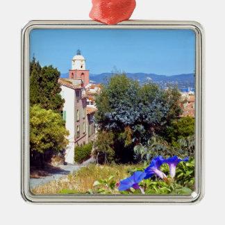Church of Saint Tropez in France Metal Ornament