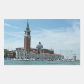 Church of San Giorgio Maggiore, Venice Rectangle Sticker