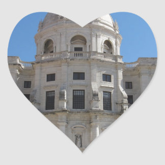 Church of Santa Engracia or National Pantheon Heart Sticker