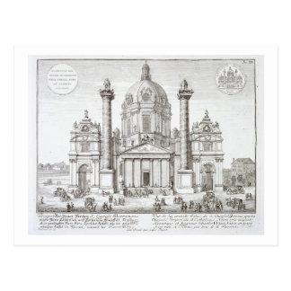Church of St. Charles Borromeo (1538-84), Vienna, Postcard