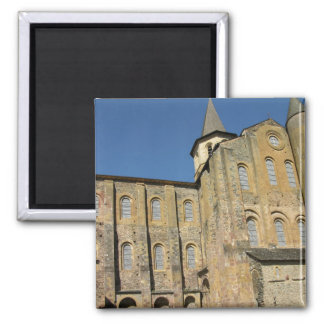 Church of St. Foy, begun c.1050 by Abbot Odolric ( 2 Inch Square Magnet