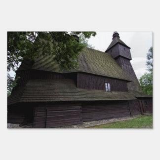 Church of St Francis Assisi - Hervartov - Slovakia Sign