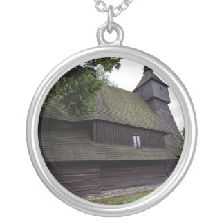 Church of St Francis Assisi - Hervartov - Slovakia Silver Plated Necklace