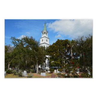 Church of St. Helena, Beaufort, South Carolina Poster