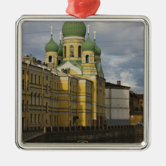 Church of St.Isidor Yurievsky & N. Chudotvorets Square Metal Christmas Ornament
