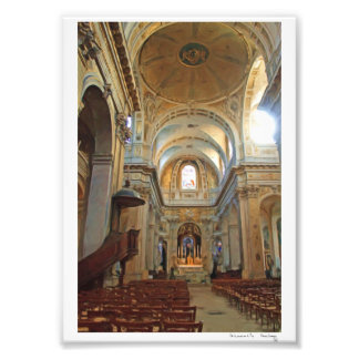 Church of St. Louis en L'Ile Art Photo
