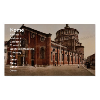 Church of St. Mary the Gracious, Milan, Italy vint Double-Sided Standard Business Cards (Pack Of 100)