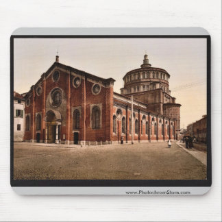 Church of St Mary the Gracious Milan Italy vint Mouse Pads