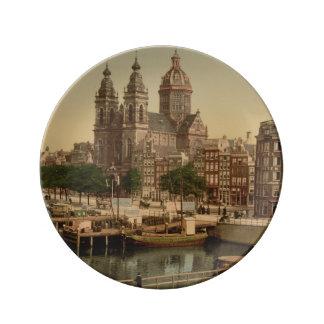Church of St Nicholas, Amsterdam, Netherlands Porcelain Plate