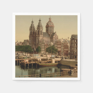Church of St Nicholas Amsterdam Netherlands Paper Napkins