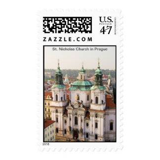 Church of St. Nicholas in Prague Postage Stamp
