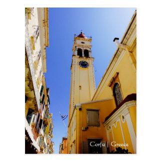 Church of St. Spyridon, Corfu, Greece Postcard