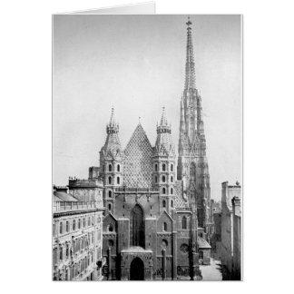 Church of St. Stephens, Vienna circa 1890 Greeting Card