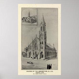 Church of the Assumption, Ansonia, Conn Poster