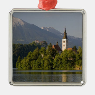 Church of the Assumption on island in Lake Metal Ornament