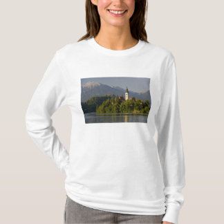 Church of the Assumption on island in Lake T-Shirt