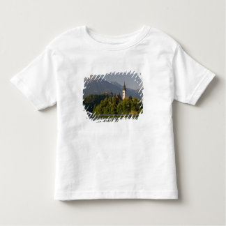 Church of the Assumption on island in Lake Toddler T-shirt