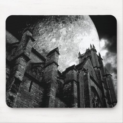Church of the full moon mouse pads