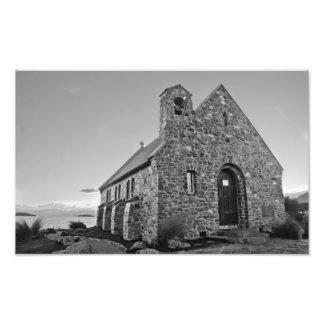 church of the good shepherd, new zealand photo print