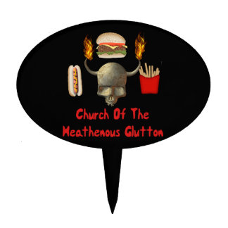 Church Of The Heathenous Glutton Cake Picks