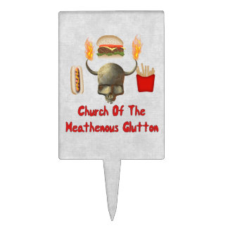 Church Of The Heathenous Glutton Cake Pick