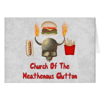 Church Of The Heathenous Glutton Card