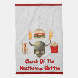 Church Of The Heathenous Glutton Kitchen Towels