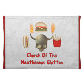 Church Of The Heathenous Glutton Place Mats