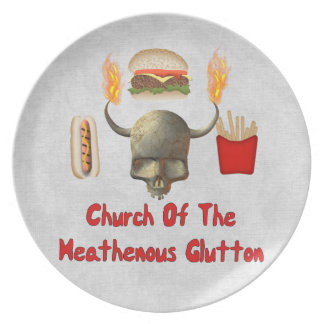 Church Of The Heathenous Glutton Party Plate
