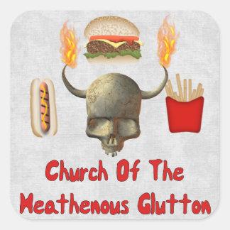 Church Of The Heathenous Glutton Square Sticker