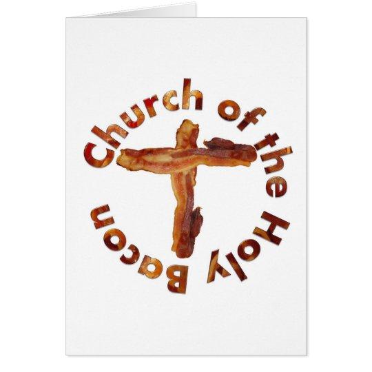 Church of the Holy Bacon Card