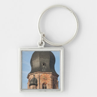 Church of the Holy Ghost in Old Town Heidelberg Keychain