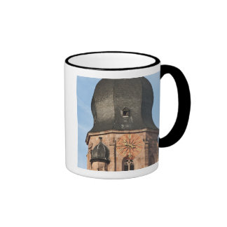 Church of the Holy Ghost in Old Town Heidelberg Ringer Mug
